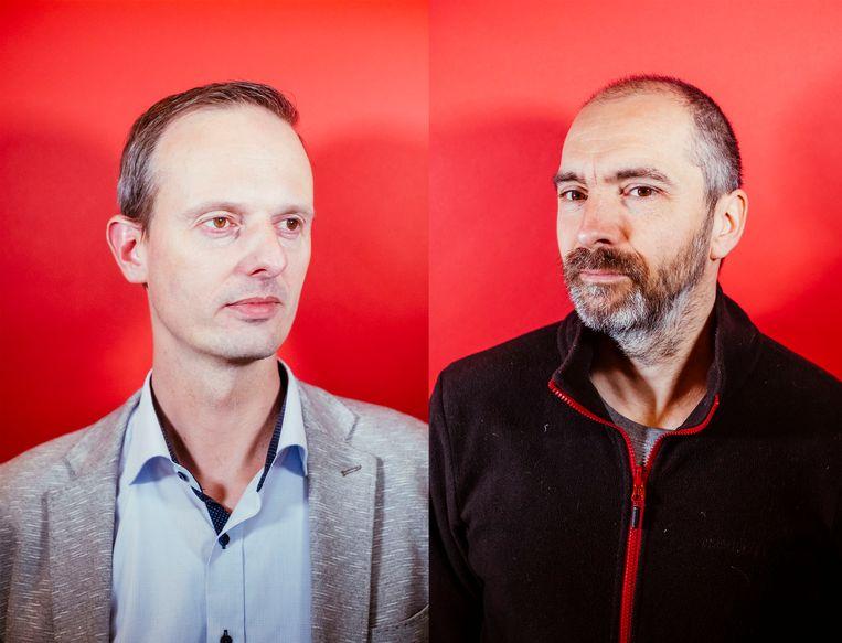 Sander Hofman (l) en Benjamin Loison. Beeld Stefaan Temmerman