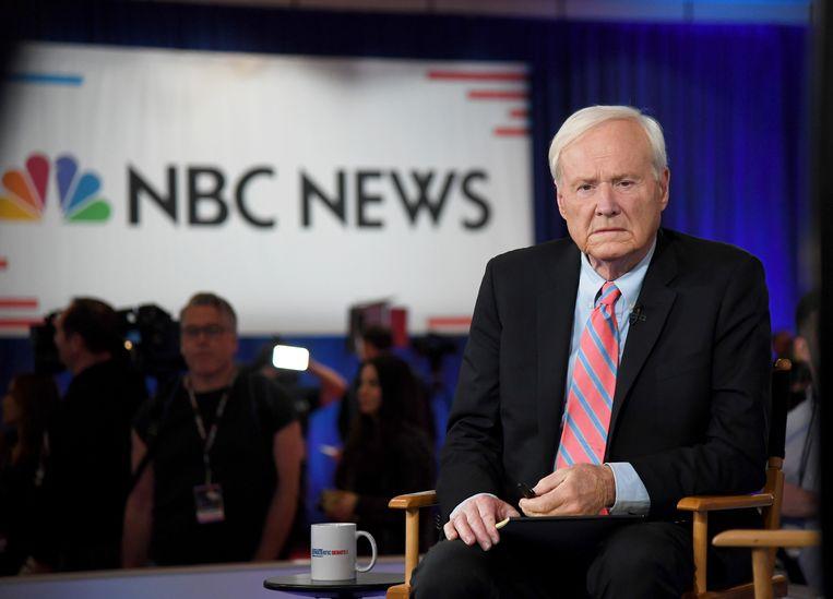 Chris Matthews presenteerde 21 jaar lang 'Hardball' op MSNBC. Beeld Getty Images