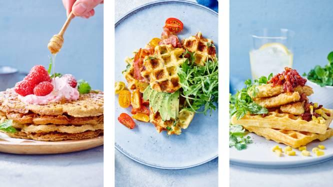 Van zachte kaneelcreaties tot een pittige versie met chili en kip: 3 originele wafelrecepten voor een lekker lang weekend