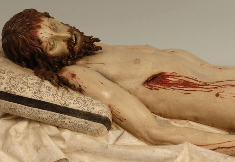 Gregorio Fernández, Dode Christus (detail), 1625-30 Beeld Prado