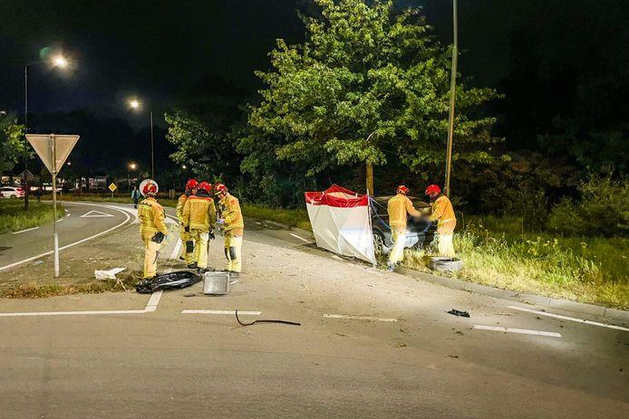 Ernstig ongeluk op Nieuwendijk Budel.