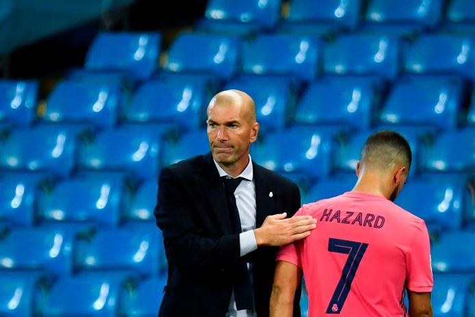 Zidane met Eden Hazard.