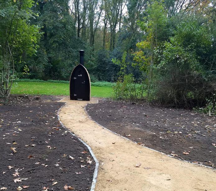 Het tweede ecologische toilet aan domein Wallemote-Wolvenhof.