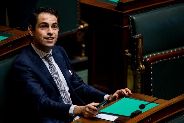 Vlaams Belang-voorzitter Tom Van Grieken. Beeld BELGA