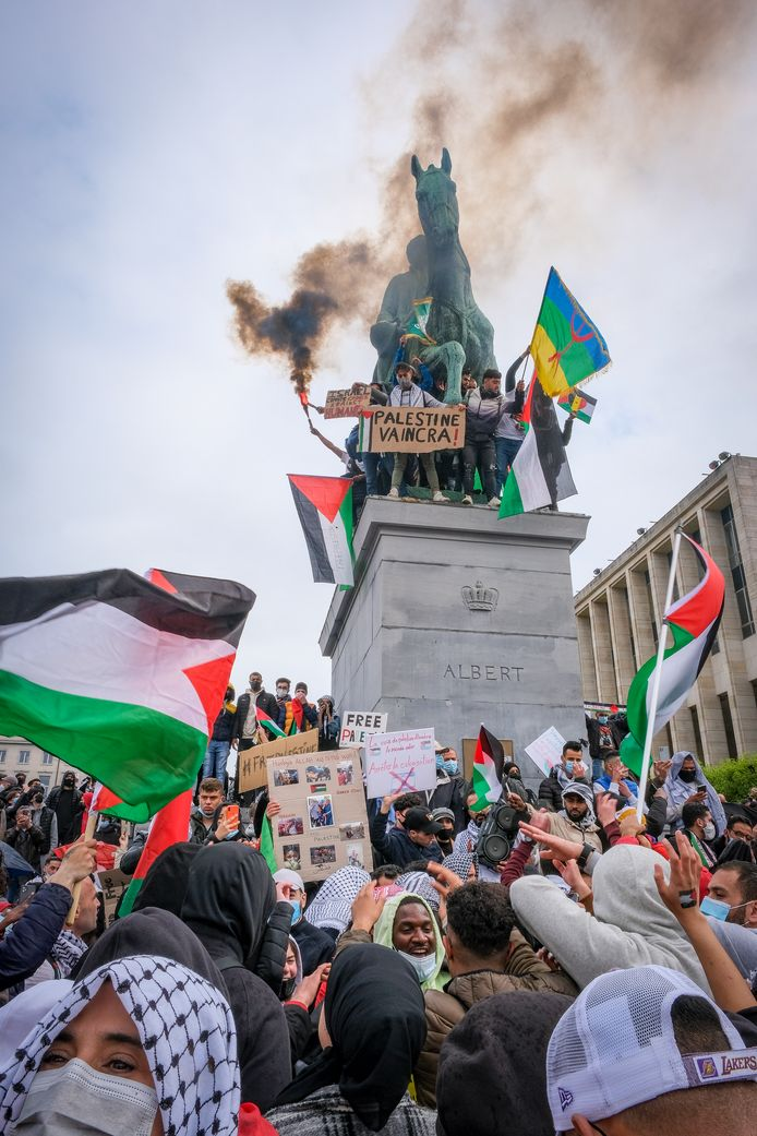 pro-Palestijnse betoging in Brussel