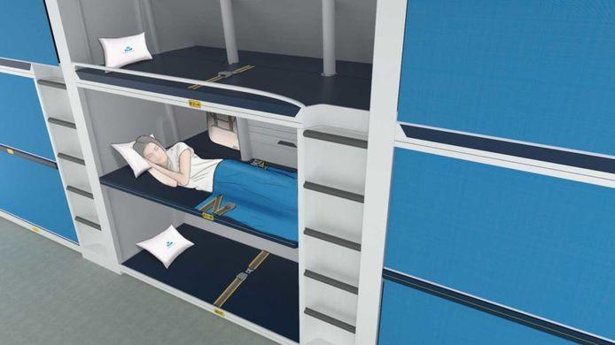 Les lits superposés proposés par l'Université de Delft.