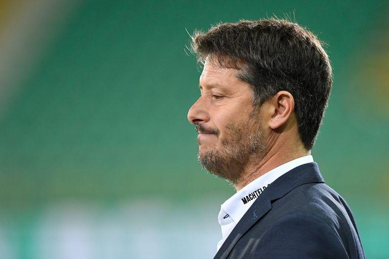 Fabien Mercadal betaalt het gelag voor de slechte resultaten van Cercle Brugge. Beeld Photo News
