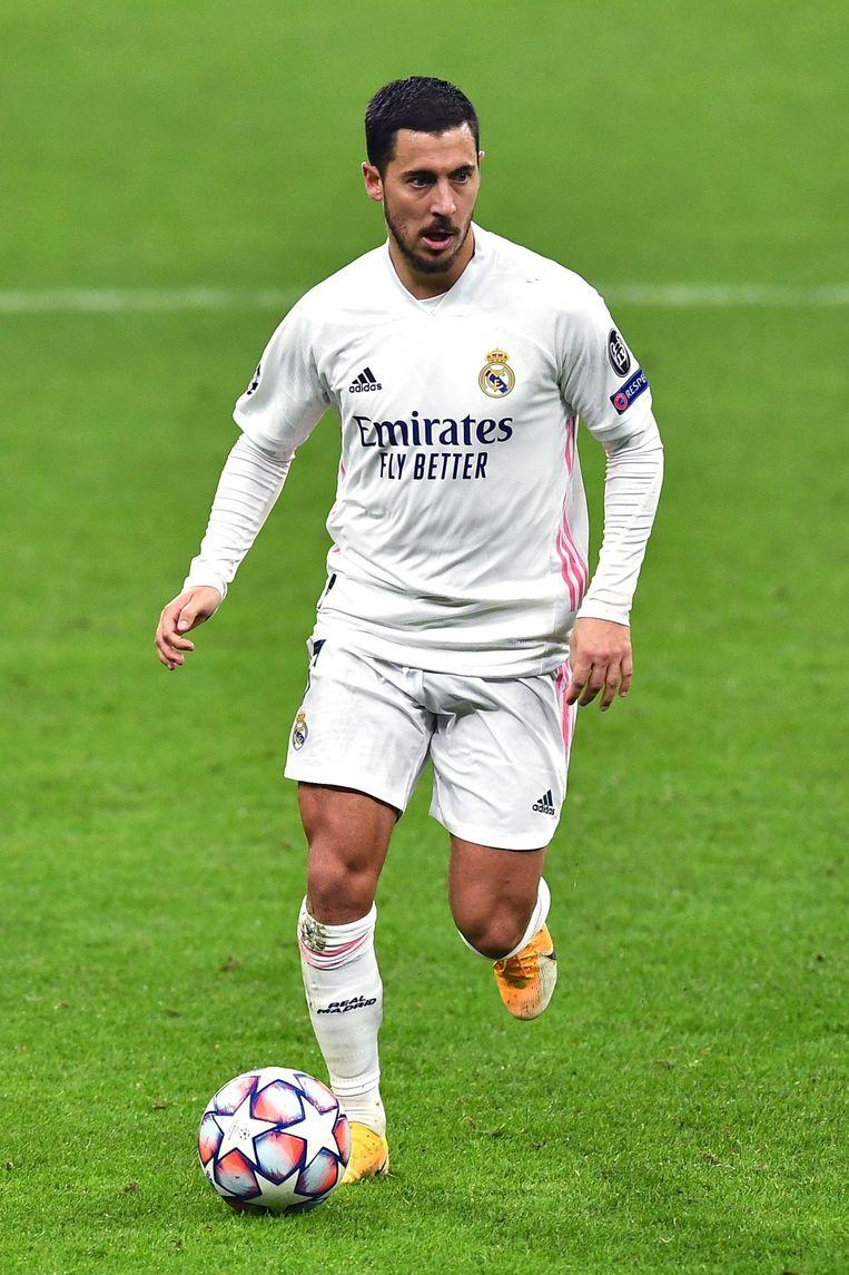 Zijn speelschema bij Chelsea maakt duidelijk waarom Eden Hazard vorig jaar uitgewoond in Madrid arriveerde. Beeld Photo News