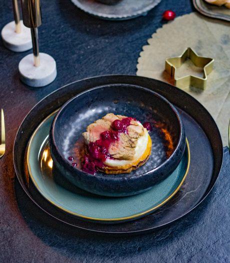Wat Eten We Vandaag: Varkenshaas met geroosterde pompoen en cranberrysaus