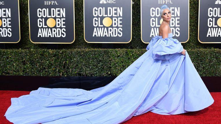 Lady Gaga op de Golden Globes Beeld AFP