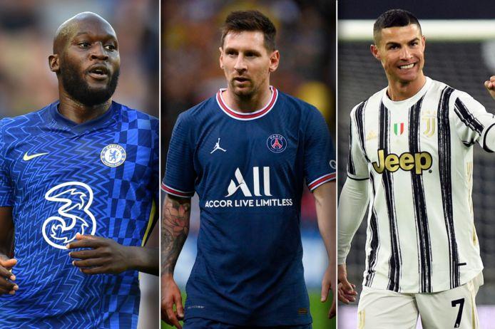 Romelu Lukaku, Lionel Messi en Cristiano Ronaldo maakten deze zomer een transfer.