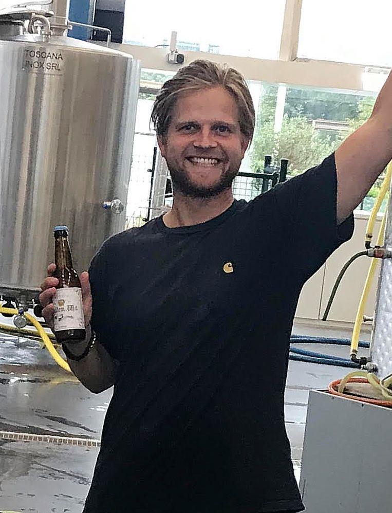Justin Oosterveer. Beeld De NH Bierbrouwerij/brouwerij Het Paleisje.