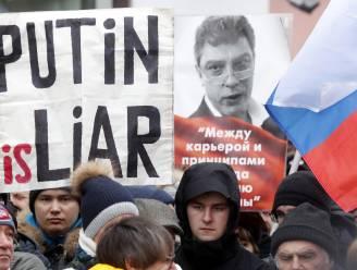 Duizenden gedenken moord op Russische oppositiepoliticus Boris Nemtsov