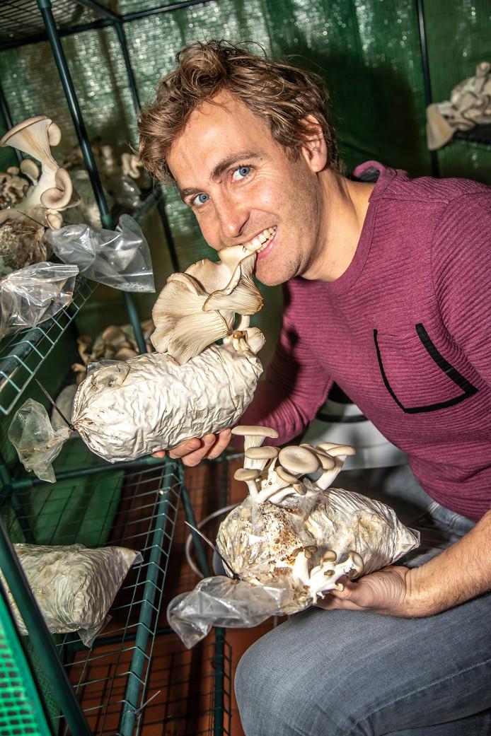 Het oesterzwammenproject deed in het verleden mee aan de 'Circular Economy Challenge'.