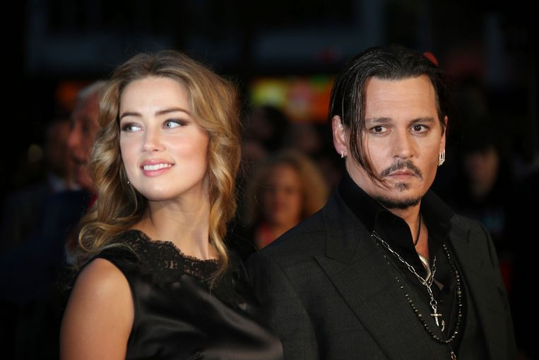 Archiefbeeld: Johnny Depp en zijn ex-vrouw Amber Heard in betere tijden (2015).