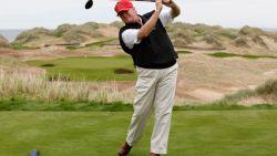 Trump bracht al kwart van zijn presidentschap door in een van zijn eigen golfclubs