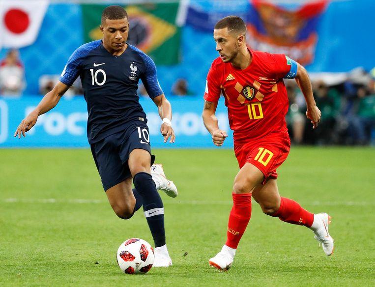 Hazard en Mbappé: in de halve finale van het WK nog tegenstanders, straks ploeggenoten bij Real?