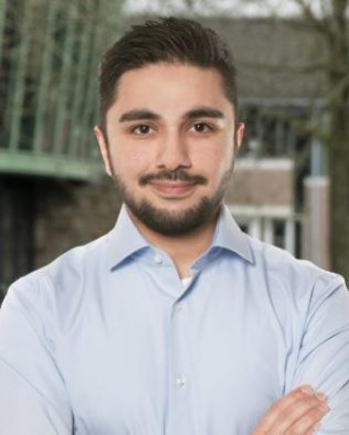 Sohib Hussain (29) is met voorkeur voor D66 in de Boxtelse gemeenteraad gekozen.