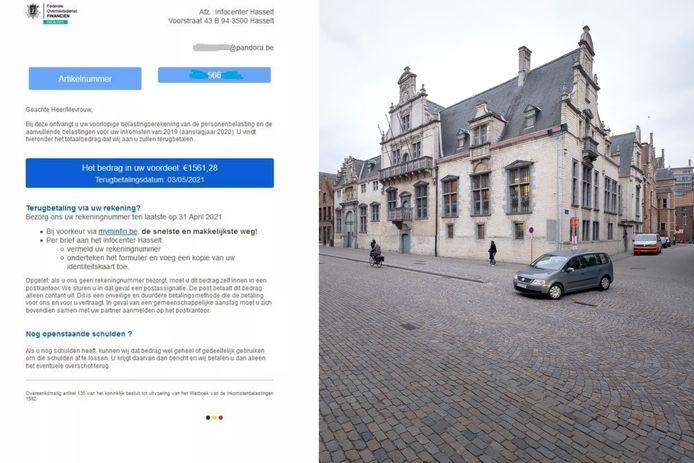 MECHELEN - De politie van Mechelen-Willebroek waarschuwde destijds voor de mail van de Phishingbende (link). Rechts: De rechtbank van Mechelen.