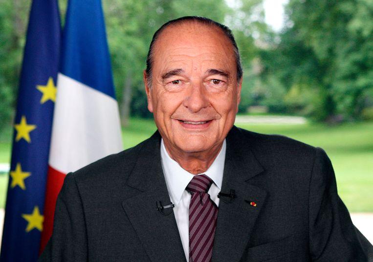 In 2007 neemt Chirac in met toespraak afscheid als president. Beeld AP