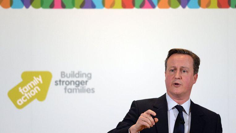 David Cameron vindt dat discipline en hard werken de sleutel zijn tot een goede opvoeding. Beeld photo_news