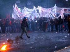 Grieks bezuinigingsprotest eindigt in rellen