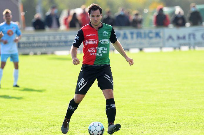De match van Jorn Rijmenams op Erpe-Mere bleef niet onopgemerkt met een doelpunt en een rode kaart.