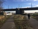 Startpunt van de 'afvalrun' bij de John Frostbrug bij Stadsblokken.