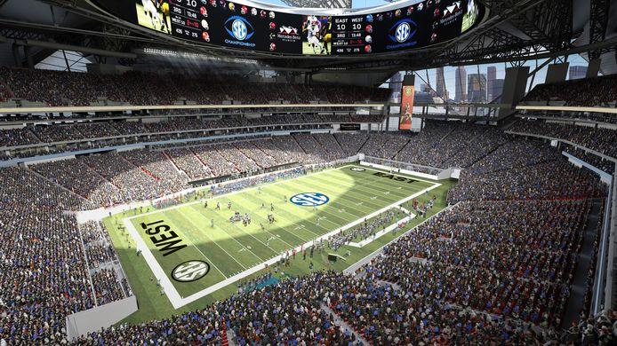 Het Mercedes-Benz stadion in Atlanta.