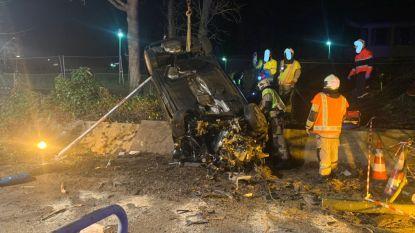 Twee zwaargewonden bij spectaculaire crash in Ukkel