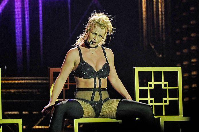 Britney Spears tijdens haar tournee in 2018.