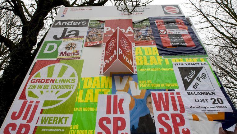 Twee maanden na de gemeenteraadsverkiezingen (19 maart) heeft Amsterdam nog steeds geen nieuw stadsbestuur. Beeld anp