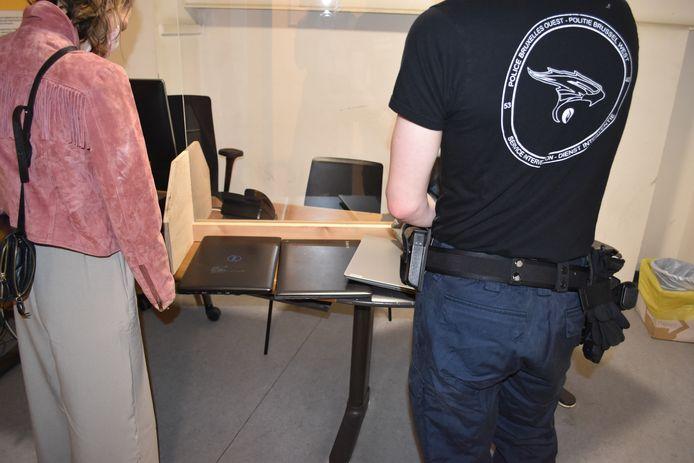 De gestolen laptops kwamen uit Merchtem.
