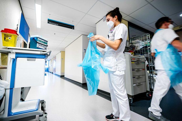 Verplegend personeel in het Catharina Ziekenhuis in Eindhoven. Beeld ANP