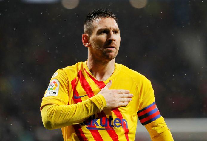 Lionel Messi maakte op 1 december de winnende goal in de uitwedstrijd bij Atlético Madrid.