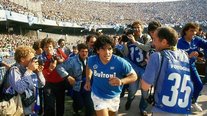 Diego Maradona lors de son épopée napolitaine