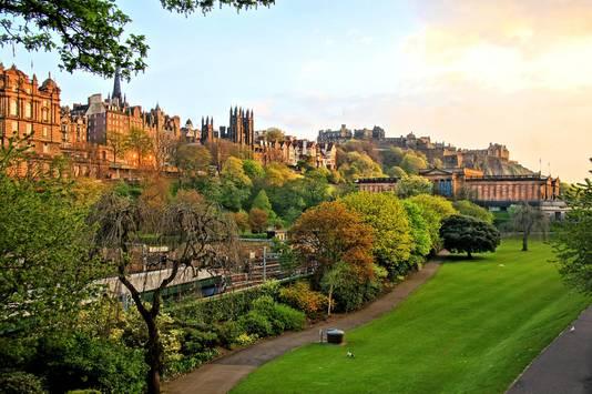 De oude binnenstad van Edinburgh