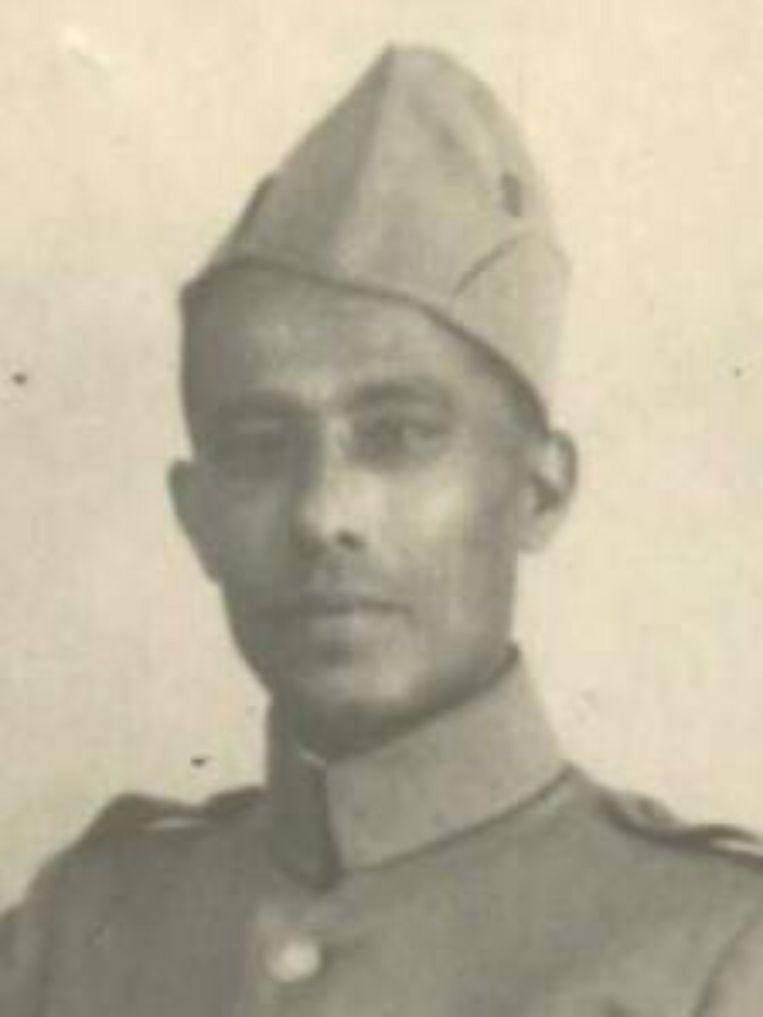Jozef Rodriguez (1900-1944), ex-Knil-militair, was een van de twaalf Surinamers die wegens verzetsactiviteiten zijn omgebracht. Hij was betrokken bij de verspreiding van illegale pamfletten. Beeld Oorlogsbronnen