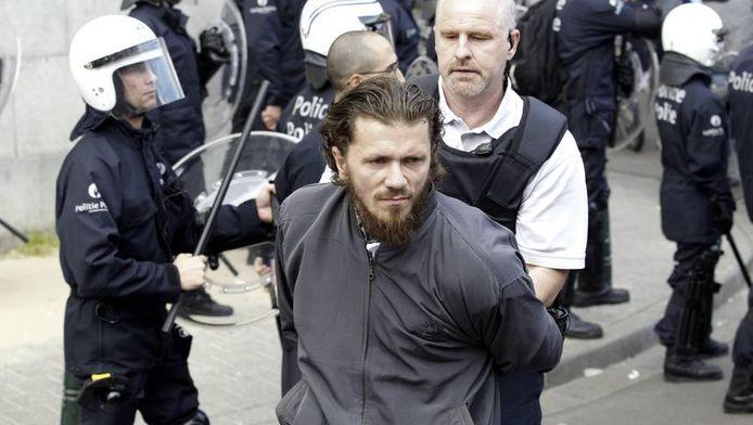 Jean-Louis Denis werd in juni 2012 opgepakt toen hij demonstreerde aan het politiecommissariaat in Molenbeek. (Archieffoto)