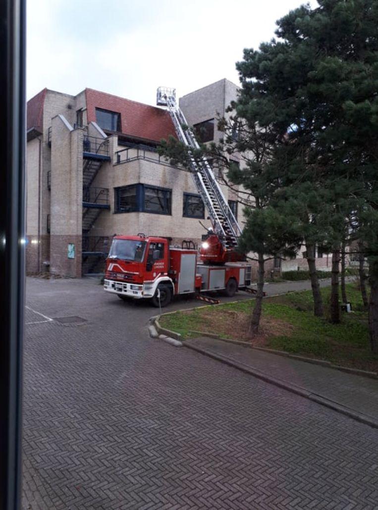 De Lokerse brandweer kwam zondag snel ter plaatse.