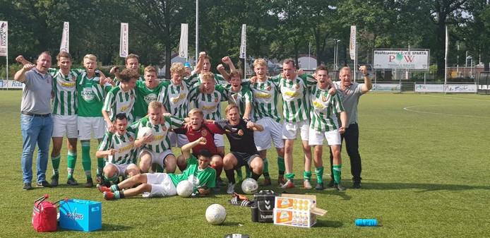 FC Meppel, winnaar van de twintigste editie van de Beltona Beloften Competitie.