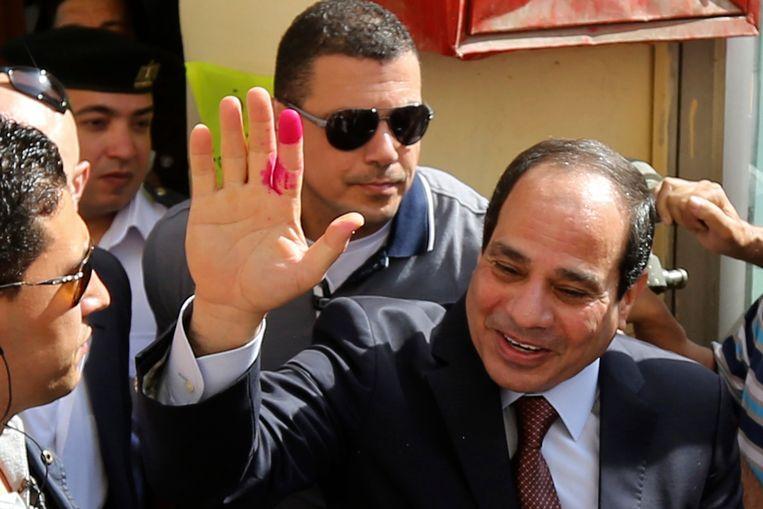 De Egyptische presidentskandidaat al-Sisi. Beeld REUTERS
