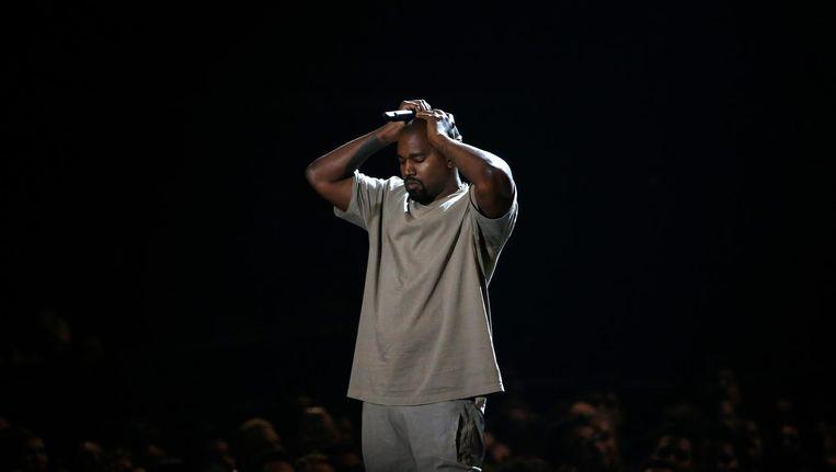 Kanye West tijdens de 2015 MTV Video Music Awards in Los Angeles. Beeld reuters