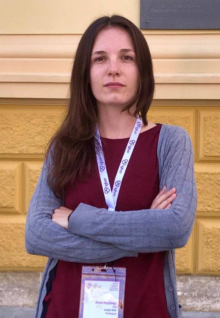 Anna Ropianyk. Beeld Inke Gieghase