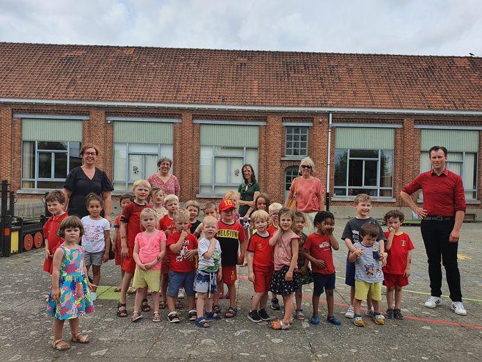 De leerlingen van kleuterschool DRIESsprong.