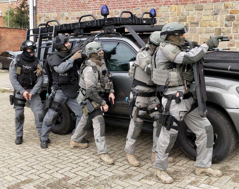 Archiefbeeld: een elite-arrestatieteam van de federale politie. Beeld BELGA