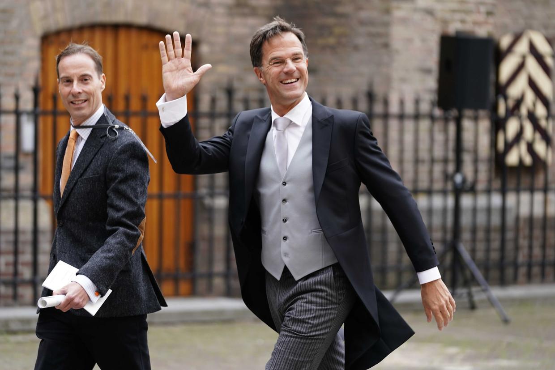 Minister-president Mark Rutte bij de Ridderzaal op Prinsjesdag.  Beeld Foto Phil Nijhuis / ANP