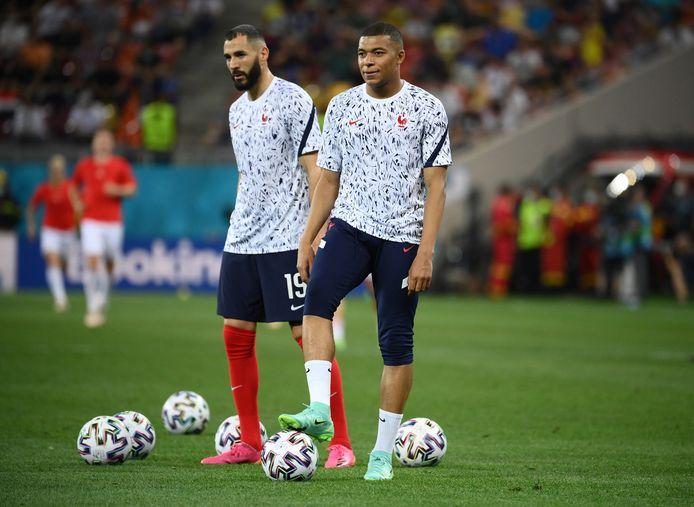 Kylian Mbappé en Karim Benzema.