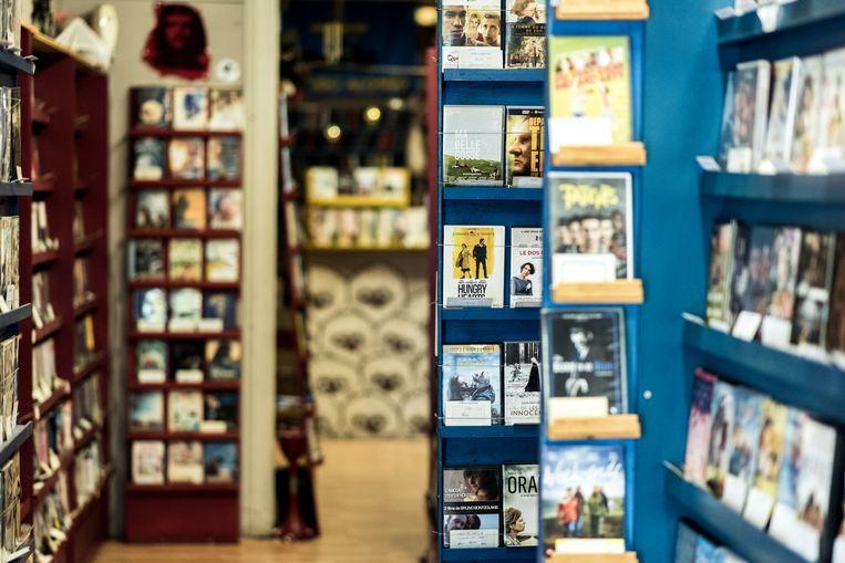 Video Express in Sint-Gillis.  Beeld Tine Schoemaker
