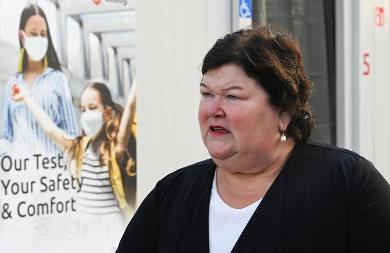 Minister van Volksgezondheid Maggie De Block. Beeld Photo News